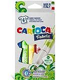 Textilmalstifte - CARIOCA Cromatex Stoffmalstifte - Textilstifte-Set, 6er-Pack im Karton-Etui