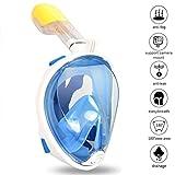Zenoplige unterwasser maske mit 180 Grad Schnorchelmaske, Voll-Gesichtsmaske, freie Atmung, fürs...