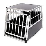 zoomundo Alu Transportbox Hundebox Reisebox Hundetransportbox 1-Türig Autotransportbox...