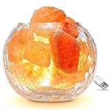 Salzkristalllampe / Salzlampe, Famirosa Himalaya Salzlampe dimmbar, Naturrosa Kristall Steinlampe...