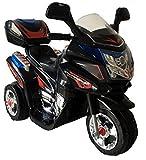 Trendsky® Black Kinder Motorrad Elektrofahrzeug Polizei Bike Akku Kindermotorrad Elektromotorrad in...
