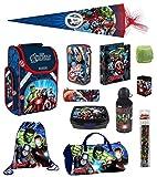 Familando Avengers Schulranzen-Set 15tlg. mit Dose/Flasche Sporttasche Federmappe gefüllt...