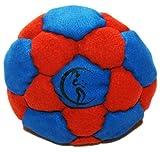 Pro Hacky Sack 32 Paneelen (Blau/Rot) Profi Freestyle Footbag! Hacky Sack für Anfänger und Profis,...