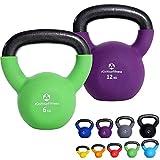 2er-Set KettleBell »Kolossos« Kugelhantel bis zu 30kg Gesamtgewicht / Handgewicht 100% Eisen mit...