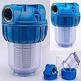 Vorfilter 1'' - 3000 L/h für Garten Pumpen / Hauswasserwerke / Schmutz filter / Sandfilter / Plus...