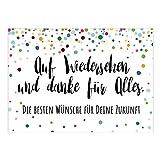 Große XXL Abschiedskarte mit Umschlag/DIN A4/Auf Wiedersehen Bunte Punkte...