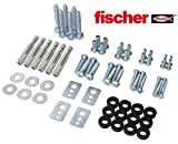RICOO VESA Schrauben Set inkl Universal Fischer UX10 Dübel SPZ0200-F Befestigungsmaterial für LCD...