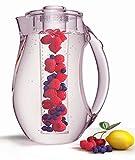 MAGNANI Frucht Infusion Wasserkanne mit Deckel mit Griff - Große BPA-freie Infusion Kanne mit...