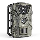 Wildkamera 1080P 12MP 1080P Full HD Wasserdichte Jagdkamera Gartenkamera 120°Breite Vision 65ft...