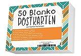 50 Blanko Postkarten/Postkarten Blanko in weiß 300g/Postkarten zum Selbstgestalten und...