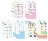 Funcoo Set von 9 2019 Kalender-Planer Aufkleber für Bullet Journal Planer, Monatliche Register,...