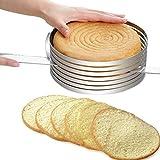 FANGff Tortenschneider, Tortenring, verstellbar, einziehbar, kreisförmiges Backwerkzeug,...