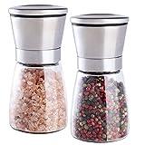 ModerneKüche Salz und Pfeffermühle - Gewürzmühlen mit verstellbarer Grobheit - gebürsteter...