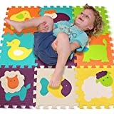 Puzzle Spielmatte – Verzahnte Puzzle Quadrate fördern die visuelle-sensorische Entwicklung –...