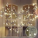 Lichterketten innen, TOFU LED Lichterkette Kugeln wasserdicht, warmweiße Weihnachtsbeleuchtung,...