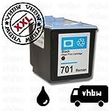 vhbw kompatible Ersatz Tintenpatrone Druckerpatrone schwarz für Drucker, Fax HP Fax 2140, 640, 650