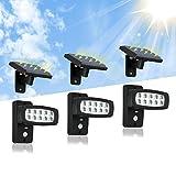 OUBO LED Außenleuchten Solarleuchte mit Bewegungsmelder Gartenhaus mit 2,3M Verlängerungskabel...