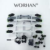 WORHAN® Fahrradträger Heckträger Fahrrad - Gepäckträger Anhängerkupplung ISO9007, UKAS998,,...