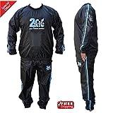 2Fit Blau/Schwitzanzug, Sauna, Gymnastik, Fitness, Sport, Sauna-Anzug, Trainingsanzug, Abnehm-Anzug,...