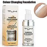 TLM Concealer Cover, 30ml Concealer -Abdeckung Flawless Farbwechsel Warmer Hautton Foundation Makeup...