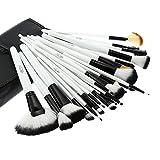 Abody 36pcs Holz Make-up Pinsel Set Berufskosmetik Bürsten Set + Tasche