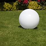 Kugelleuchte 40 cm Ø, weiße Kugellampe, Außenleuchte, strahlend schöne Deko für Innen & Außen,...