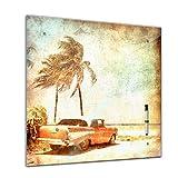 Memoboard 40 x 40 cm, Männermotive - Beach - Glasboard Glastafel Magnettafel Memotafel Pinnwand...