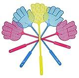 Milopon Plastik Fliegenklatsche Fliegenschutz Mückenschutz mit Hand Design für Fliegen, Mücken...