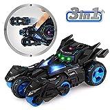 Baztoy Zurückziehen Auto, Kinderspielzeug Kinder Auto Spielzeug with 2 Motorrad Spielzeug, LED...