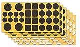 clapur Filzgleiter-Set (192 Stk.) Hochwertige Nadelfilz-Gleiter, selbstklebend, extra druckfest....