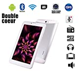 G-Anica 7 Zoll Phablet Smartphone (Unlocked Ohne Vertrag) Tablet PC Dual Core Dual SIM Android 4.4...