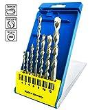 S&R Betonbohrer Set, Superschlag mit zylindrischem Schaft in Kunststoffbox 7Stk: 4x85, 5x85, 6x100,...