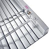 JalouCity Klemmfix Aluminium Jalousie ohne Bohren inkl. Jalou-Klicks / Silber 80 x 180 cm (BxH)