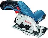 Bosch Professional Akku-Kreissäge GKS 12V-26(2x 2,5 Ah Akku, Ladegerät, Absaugadapter, L-BOXX, 12...