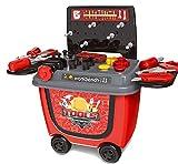 ❎ Werkstatt Rollwagen Kinderwerkbank mit Spielzeug Werkzeug, 28 Teile ❎