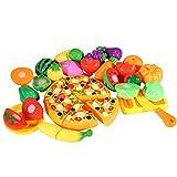 Thinkmax 24PCS Schneiden Speisen Obst Gemüse Küche Pretend Play Food Set Educational Kunststoff...
