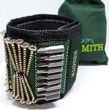 Magnetischer Armband mit Aufbewahrungsbeutel 10 kräftige Magneten zum Halten von Nägel, Schrauben,...