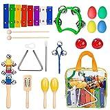 Kinder Musikinstrumente, Kinder Xylophon aus Holz, Perfekt Glockenspiel Holz Geschenke für Babys,...