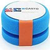 CARTO Profi Handpolierschwamm mit Griffleiste, weich, blau –...