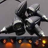 Gazechimp 4x Universal Motorrad LED Leuchten Gelbe Lampe Hintere Bremse Blinker Signallicht...