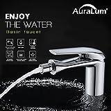 Auralum Bidet-Armatur Toilette Kupfer Einhandmischer Wasserfall Bad Mischbatterie für...