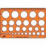 Helix Kreis Schablone h67010 Kreisschablone Orange (Translucent Orange)