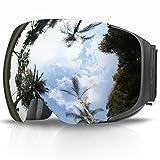 Skibrille, eDriveTech Ski Snowboard Brille Brillenträger Schneebrille Snowboardbrille Verspiegelt-...