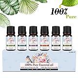 Ätherische Öle Set, Siman Duftöle für Diffuser und Aromatherapie, 100% Reines Bio naturrein...