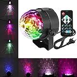 Discokugel LED,SOLMORE Disco Partylicht Wasser plätschert Lichter Musik Lichteffekte LED Ozeanwelle...