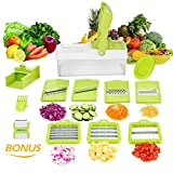10 in 1 Verstellbarer Mandoline Gemüseschneider Kartoffelschneider, Zerteilen Gemüse Obst Schnell...