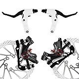 AFTERPARTZ NV-5 Fahrrad Scheibenbremse Umbausatz G3 160mm Scheiben V&H schwarze Bremssättel mit...