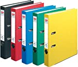 HERLITZ Ordner maX.file nature+ A4 5cm   Kraftpapierbezug selbstklebendes Rückenschild   5er...