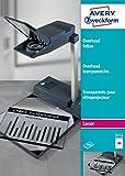 Avery Zweckform 3552 Overhead-Folien (A4, spezialbeschichtet, stapelverarbeitbar, Stärke: 0,10 mm)...