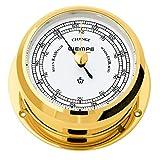 Barometer Pirat II Messing Ø 96mm - Schweremesser Druckmesser